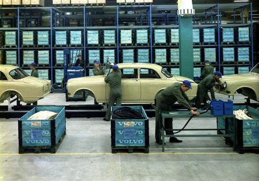 Fotos antigas da fabrica da Volvo