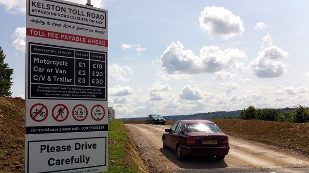 Toll road opens near Bath