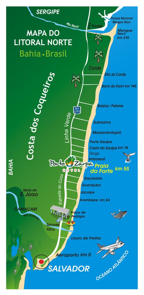 Mapa da Linha Verde - BA-099